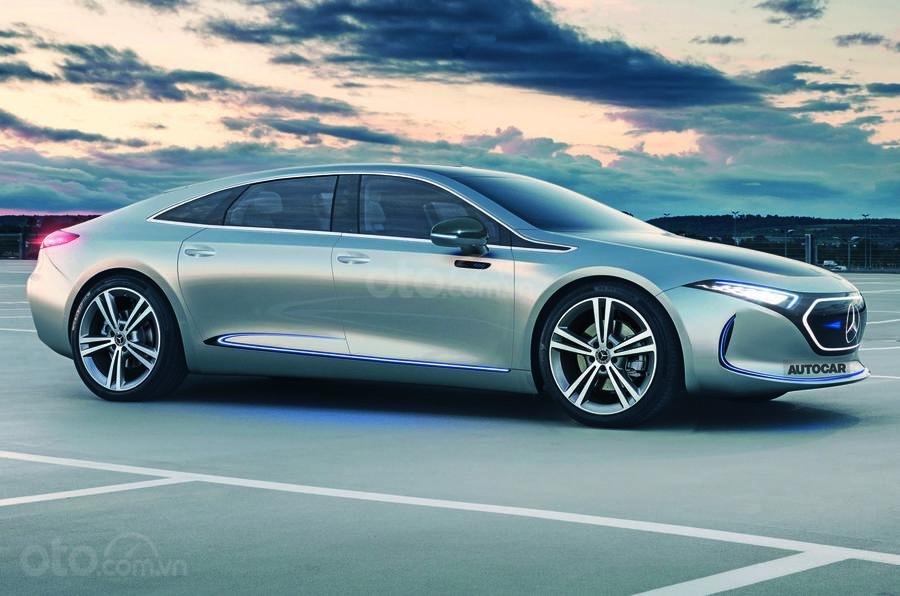 Xế sang Mercedes-Benz EQE 2022 sẽ là chiếc sedan sạch sang trọng