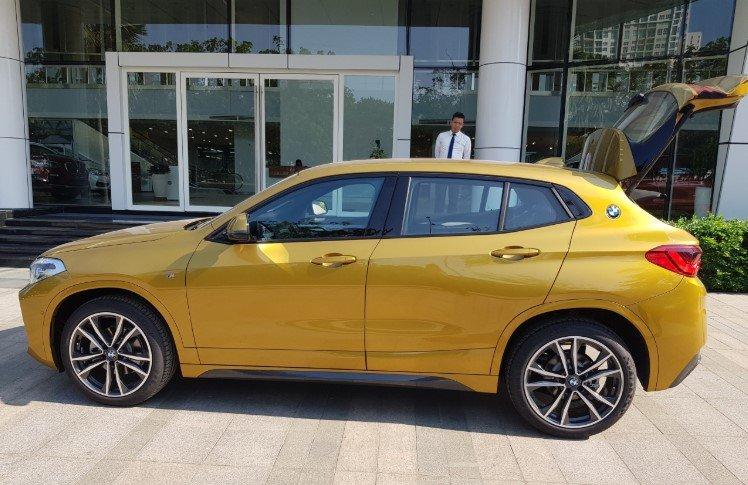 Đánh giá BMW X2 sDrive18i 2019 về thiết kế thân xe.