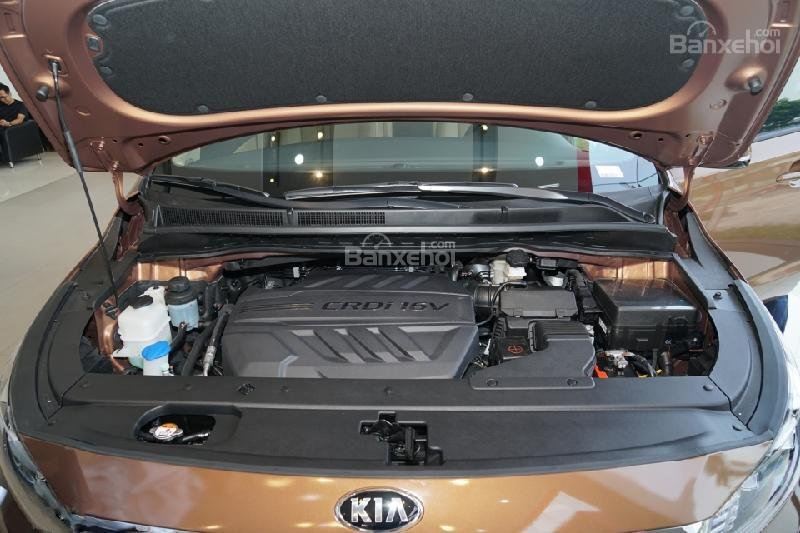 Kia Sedona lắp đặt động cơ Diesel, 2.2L CRDi và Xăng, Lambda 3.3L MPI.