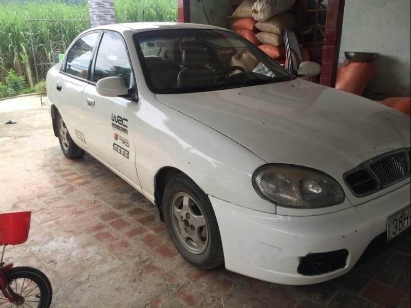 Bán Daewoo Lanos sản xuất 2002, màu trắng, ai cần liên hệ giá rẻ bất ngờ-0