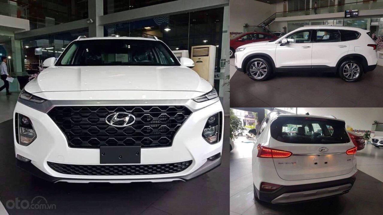 Bán xe Hyundai Santa Fe 2019, màu trắng-2
