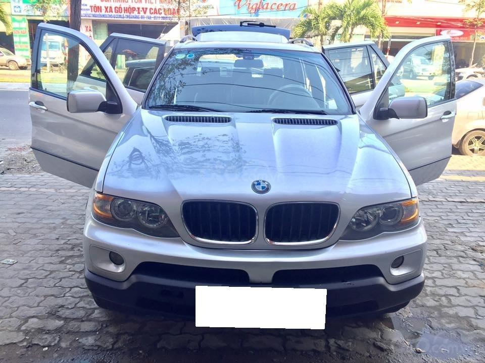 Cần tiền bán siêu phẩm BMW X5, sx 2004, ĐK 2007, màu bạc (1)
