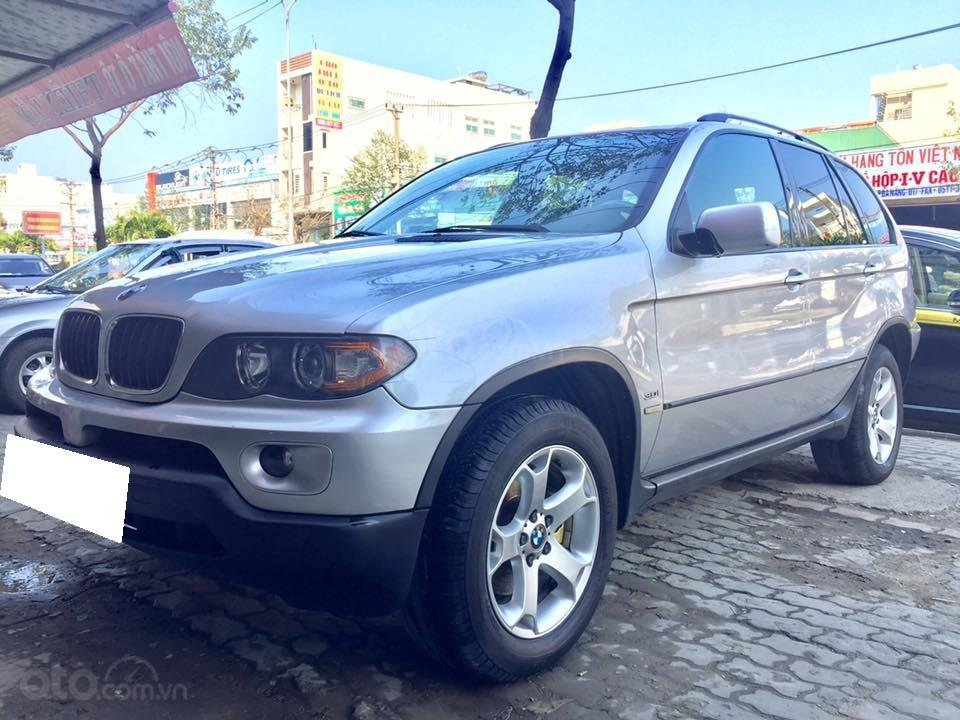 Cần tiền bán siêu phẩm BMW X5, sx 2004, ĐK 2007, màu bạc (8)