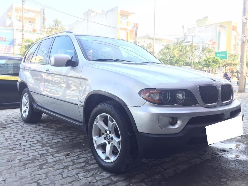 Cần tiền bán siêu phẩm BMW X5, sx 2004, ĐK 2007, màu bạc (6)