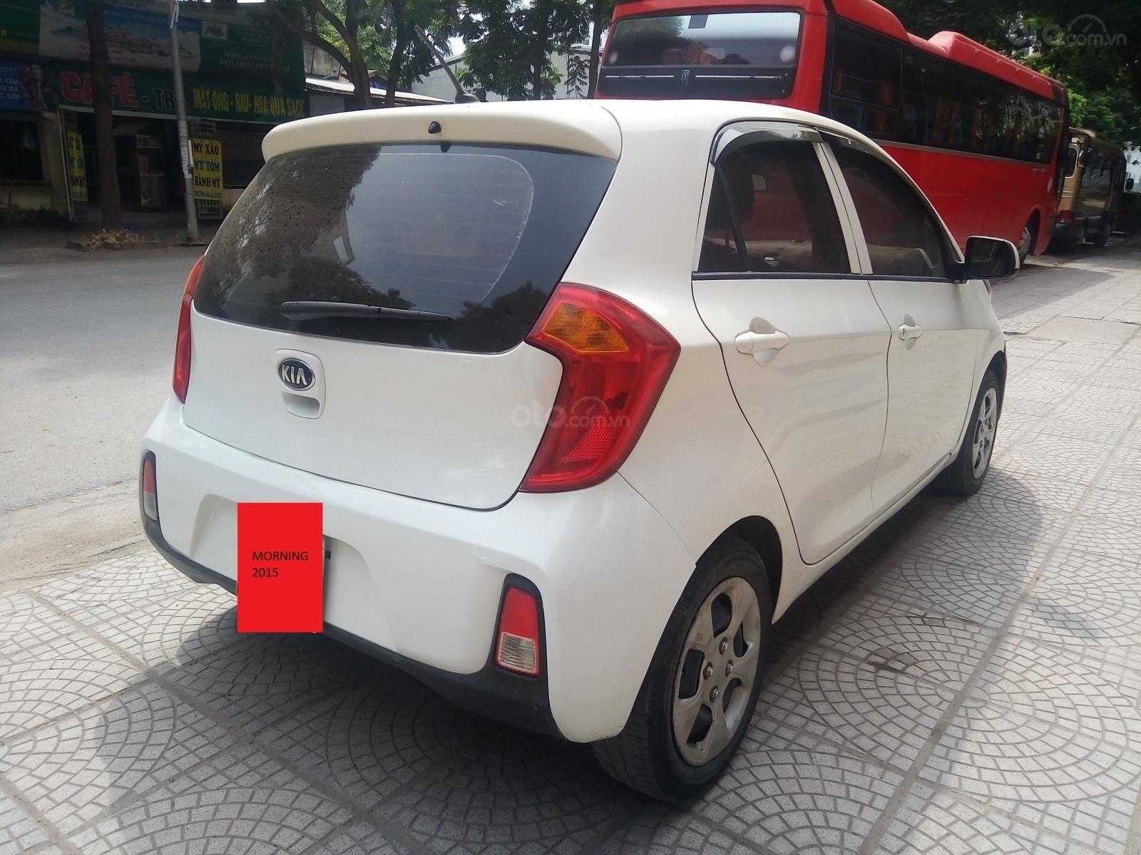Cần bán Kia Morning năm sản xuất 2015, màu trắng, nhập khẩu nguyên chiếc-2