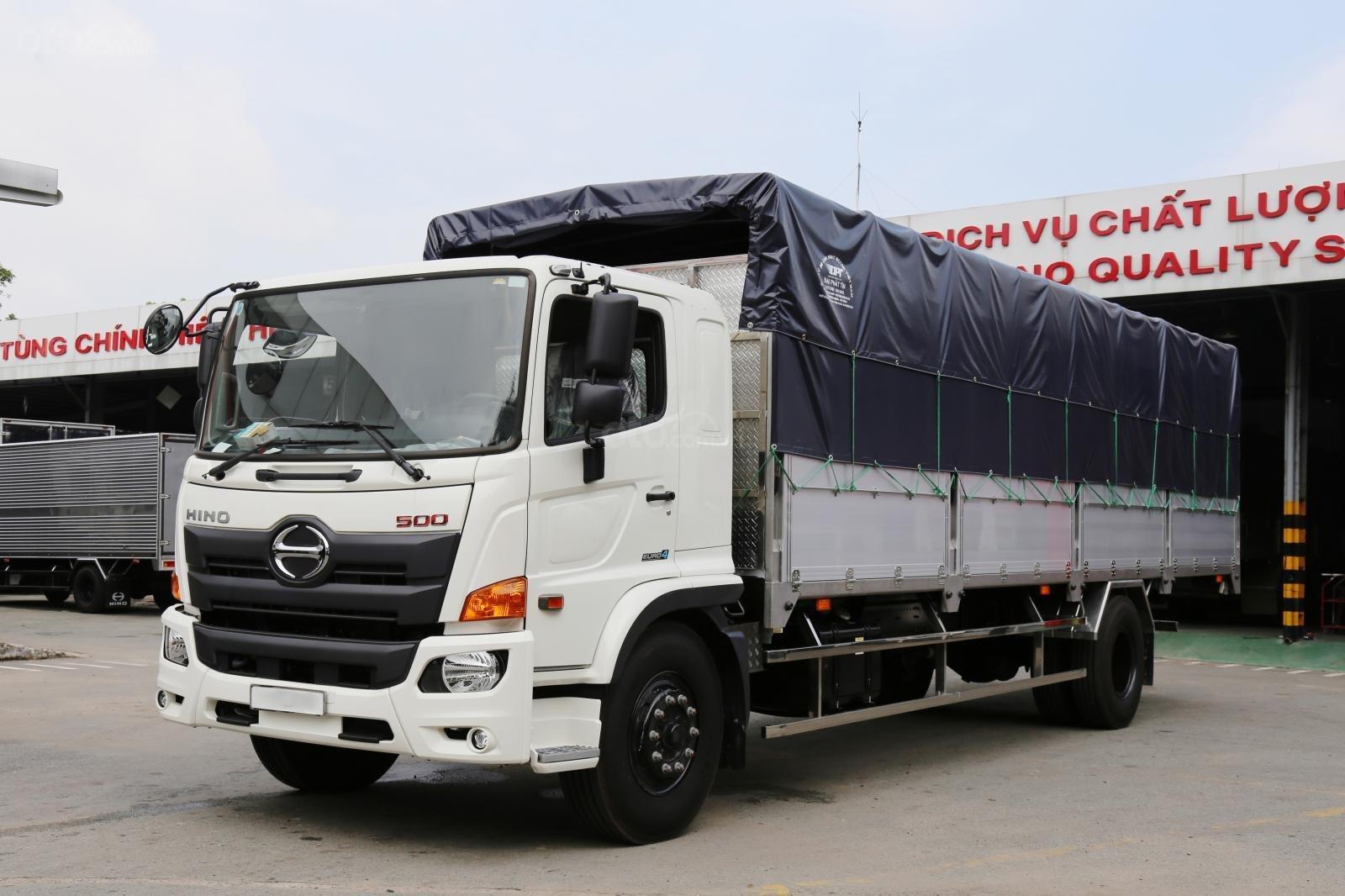 Bán xe tải Hino 2019 8 tấn thùng mui bạt 8.7m-0