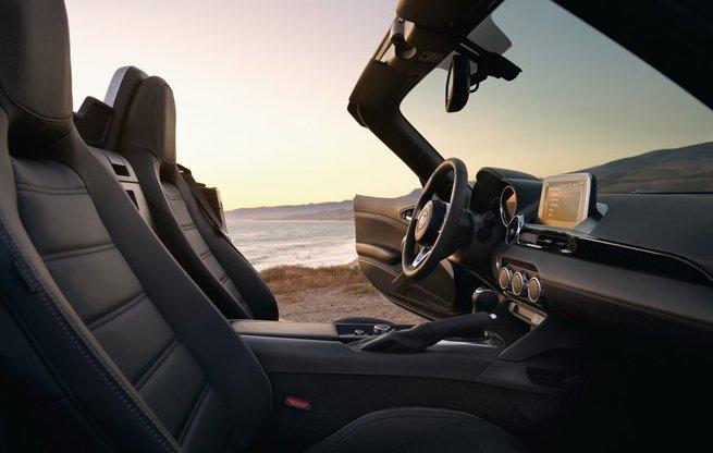 Nội thất sang trọng của Fiat 124 Spider Classica .