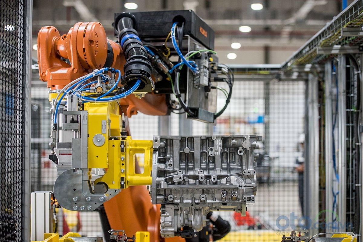 Xưởng động cơ của nhà máy ô tô VinFast.