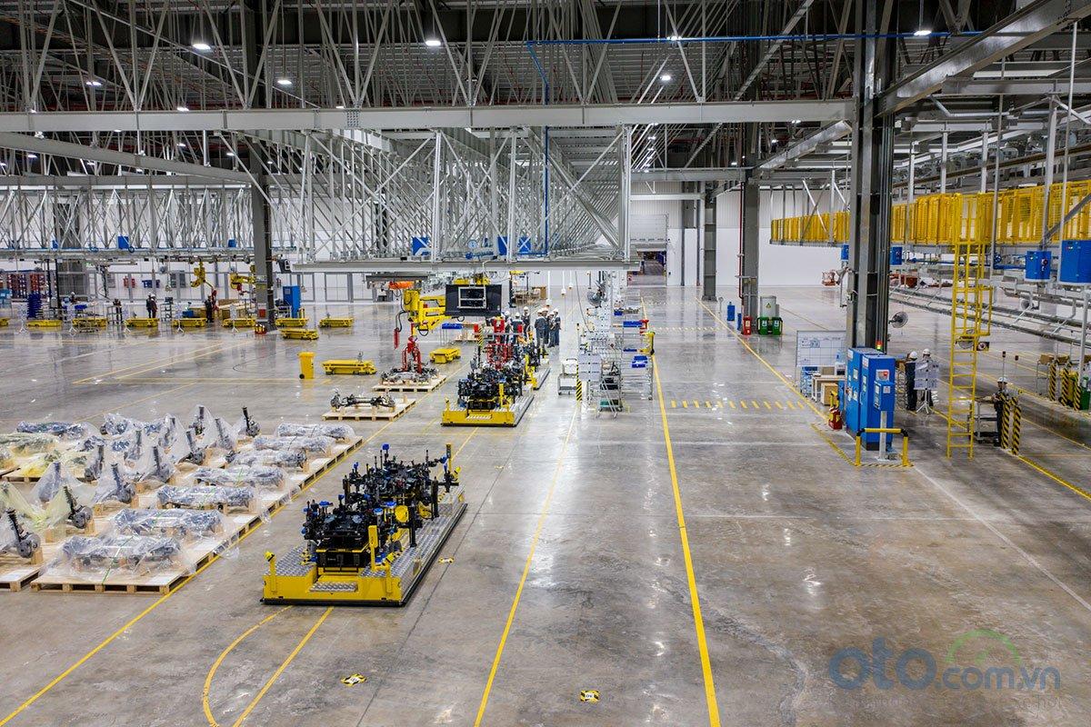 Xưởng lắp ráp của nhà máy ô tô VinFast.