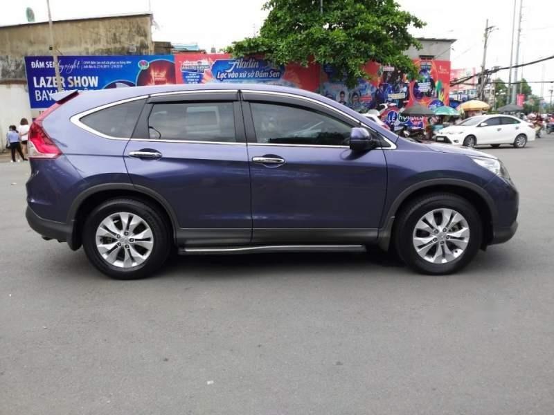 Bán Honda CR V 2014, màu xanh lam, nhập khẩu-1