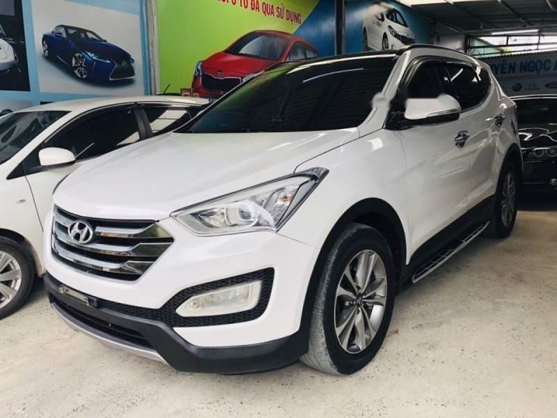 Bán Hyundai Santa Fe sản xuất 2015, màu trắng chính chủ (2)
