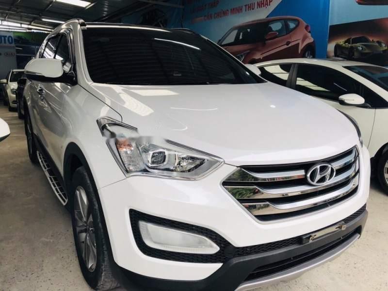 Bán Hyundai Santa Fe sản xuất 2015, màu trắng chính chủ (1)