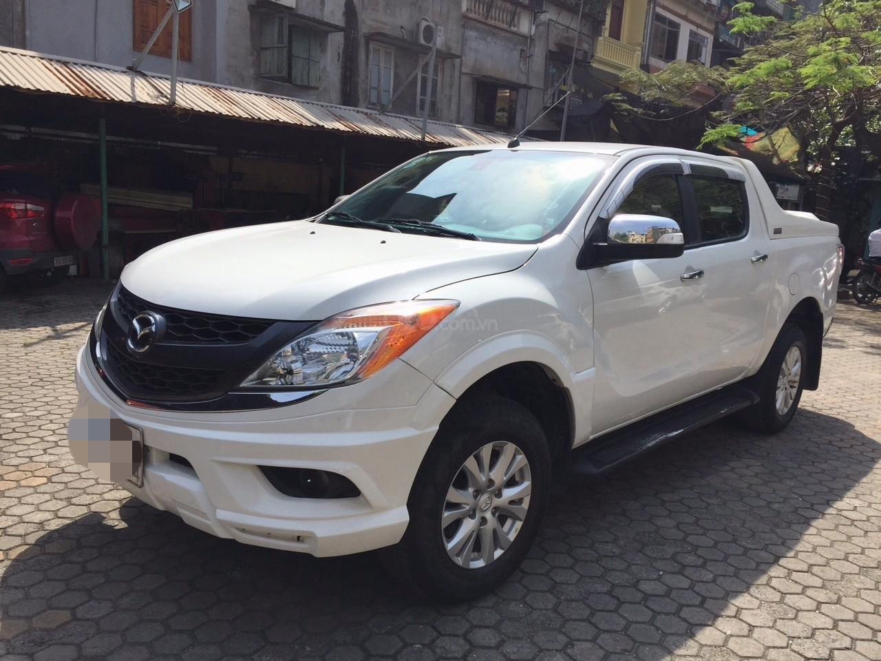 Bán Mazda BT 50 sản xuất năm 2015, màu trắng -0