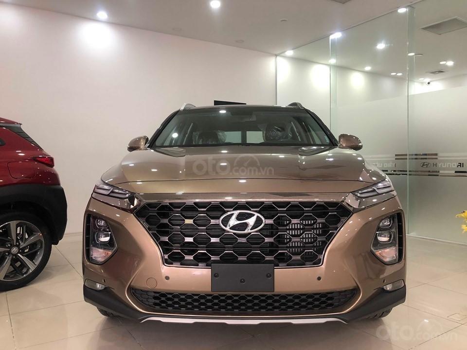 Bán Hyundai Santa Fe 2019 máy dầu, vàng cát, tặng 10triệu - nhiều ưu đãi - LH: 0964898932-0
