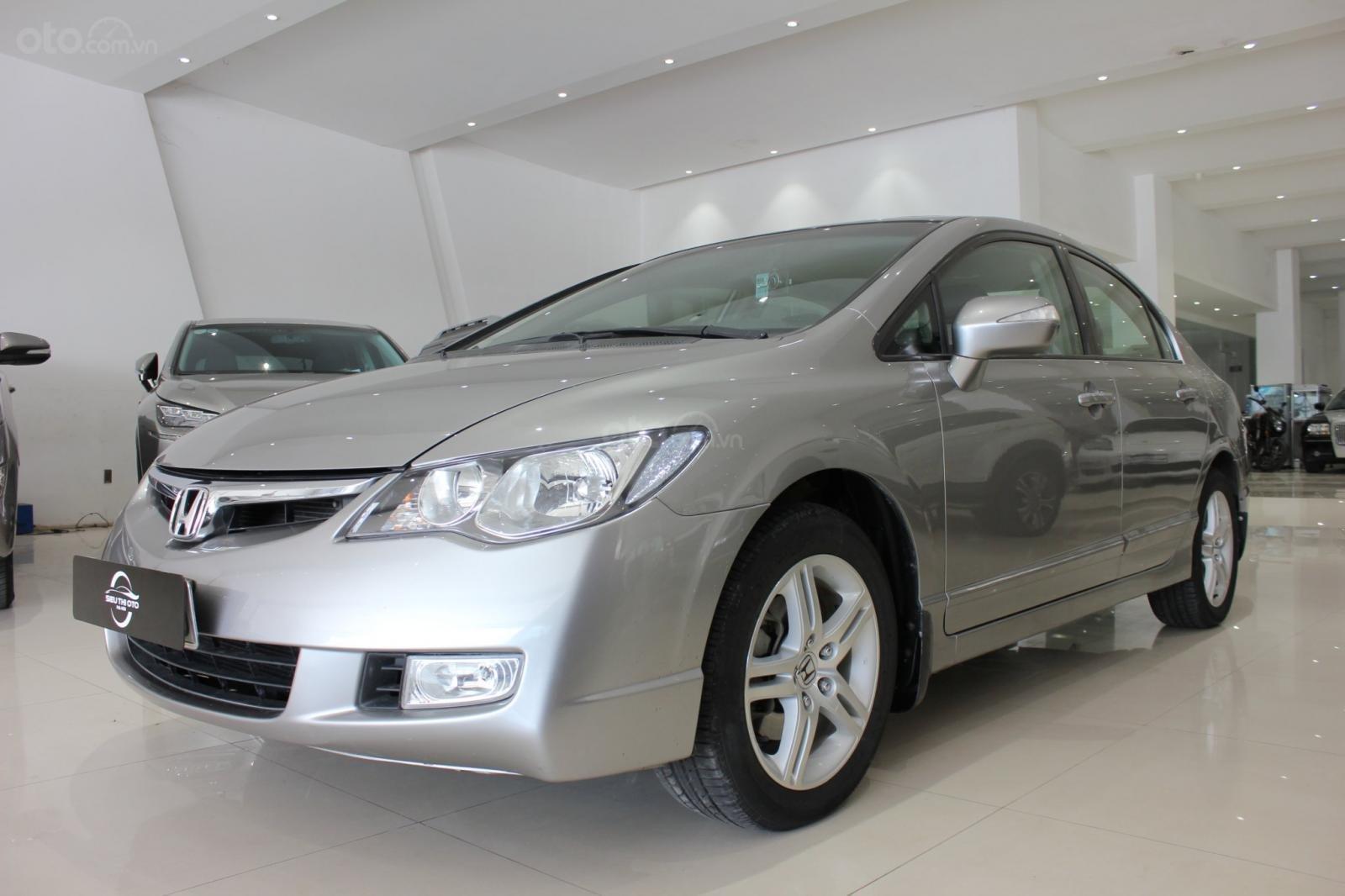 Bán ô tô Honda Civic số tự động, sản xuất 2008, màu bạc, 370 triệu (2)