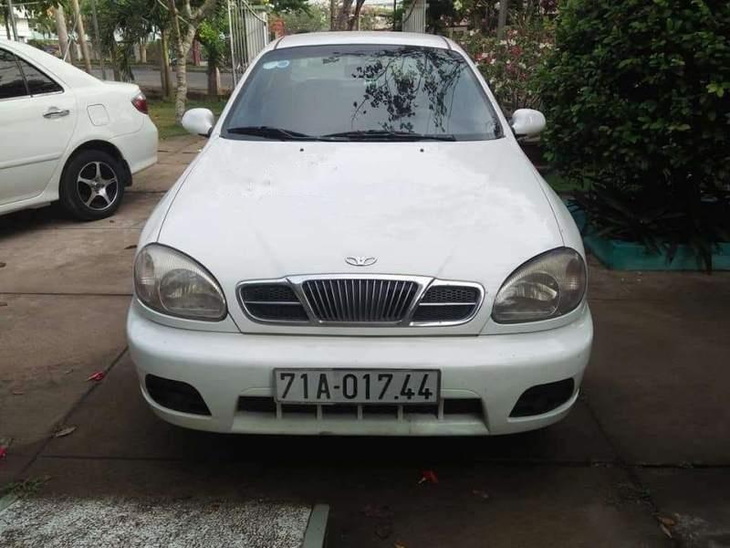 Bán Daewoo Lanos sản xuất năm 2002, màu trắng, giá chỉ 75 triệu (1)