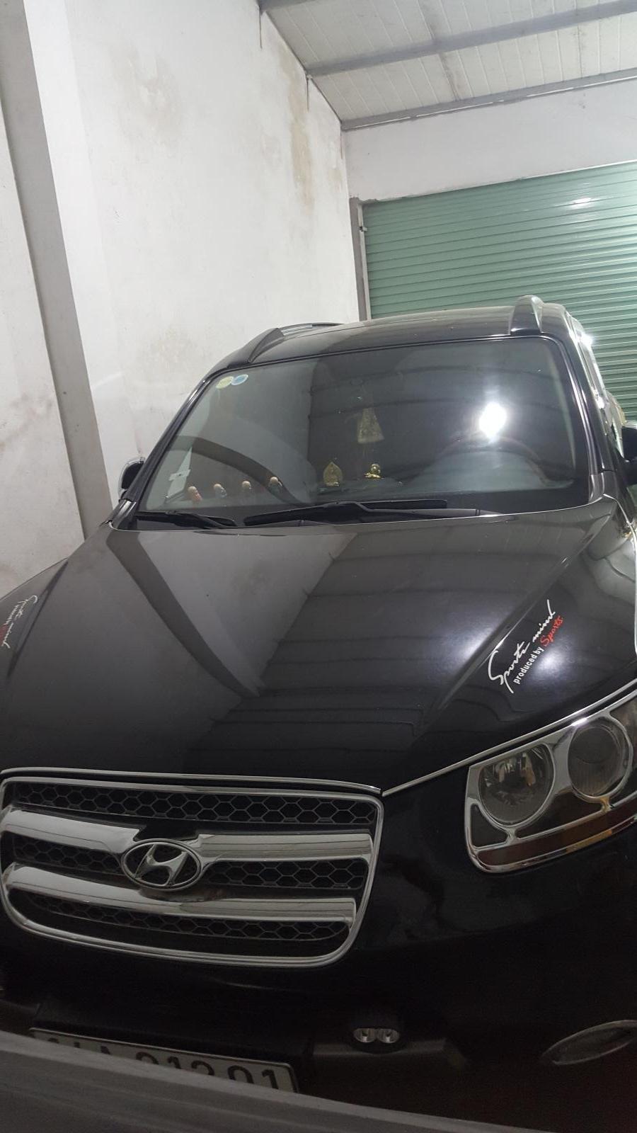 Bán ô tô Hyundai Santa Fe SLX năm 2009, màu đen, xe nhập số tự động, 590 triệu (3)