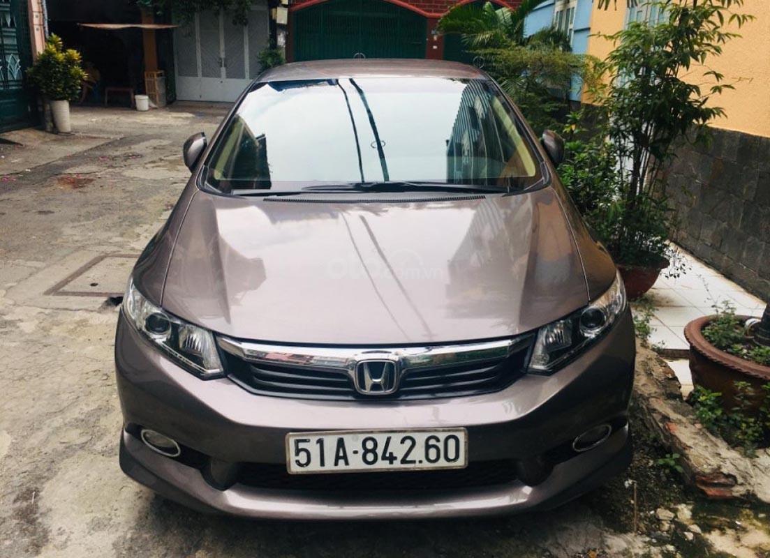 Cần bán lại xe Honda Civic đời 2014, màu xám chính chủ-1