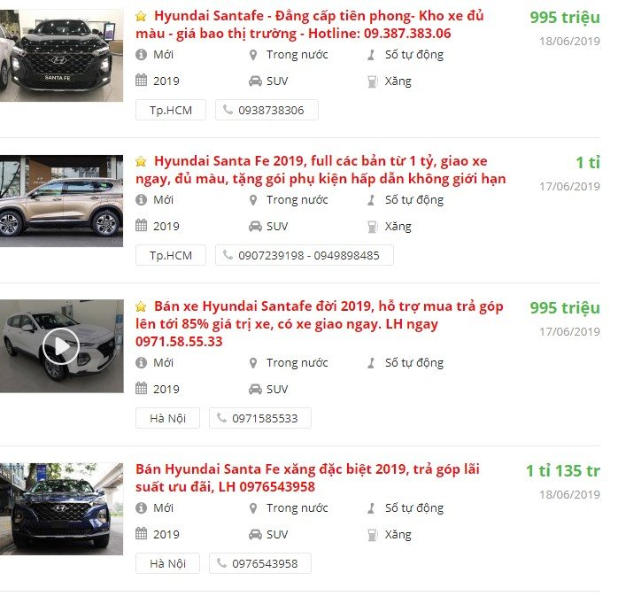 Hyundai SantaFe2019 có khuyến mại gì tháng 6 không? a1