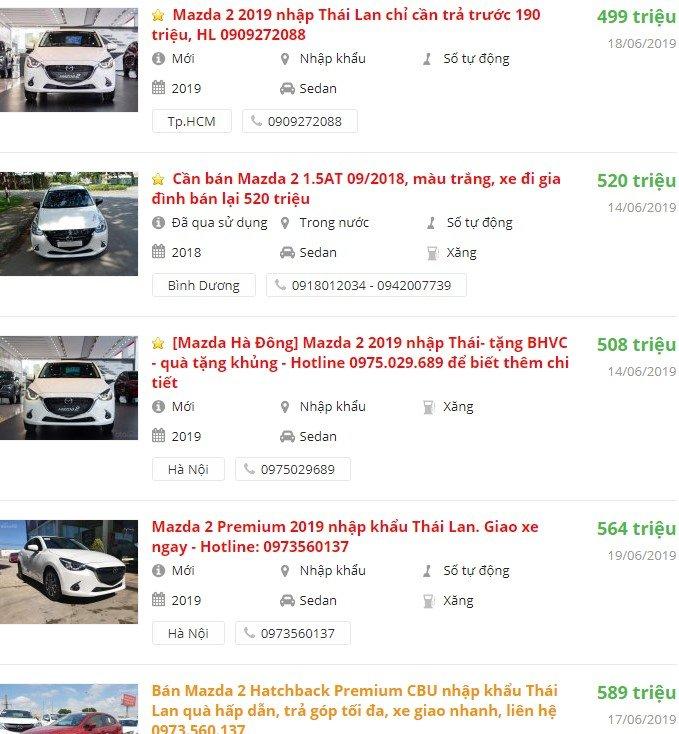 Mazda 2 2019 được khuyến mại gì không trong tháng 6/2019?â