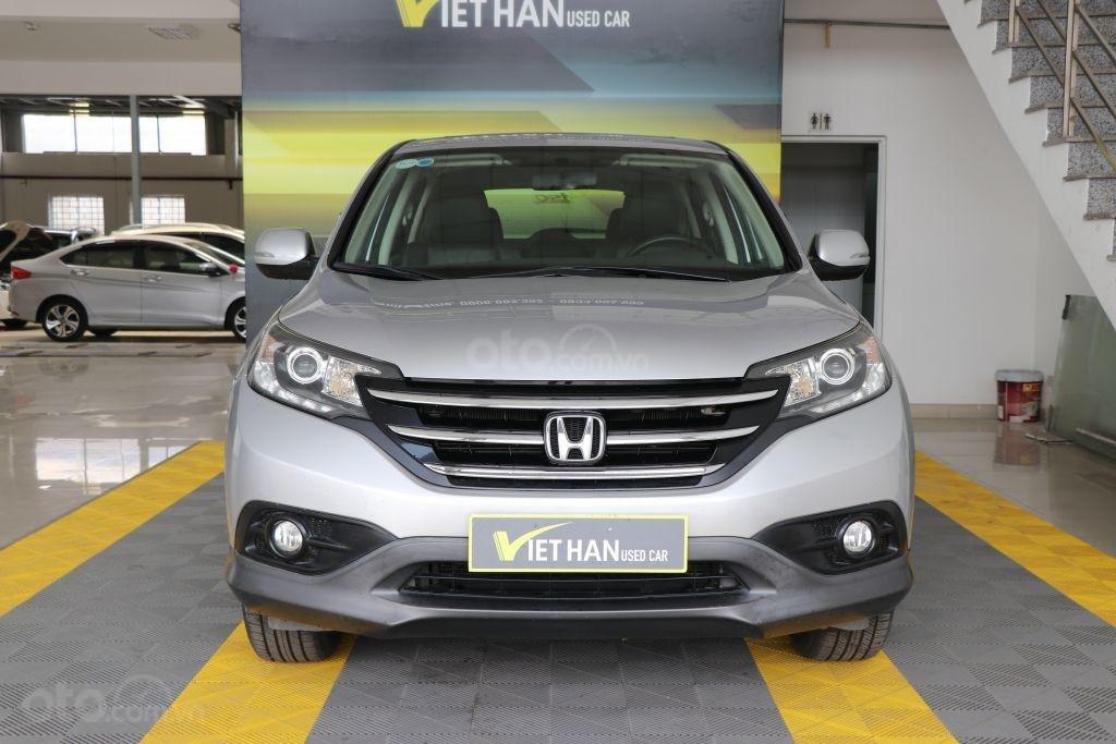 Cần bán Honda CR V 2.4AT năm 2014, màu bạc-1