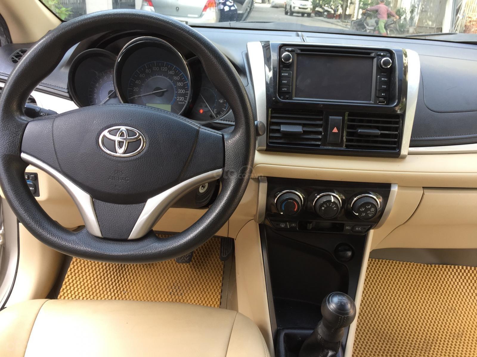 Chính chủ tôi cần bán chiếc Toyota Vios E 2014, số sàn màu cát vàng, ai có nhu cầu LH 0989793315 (8)