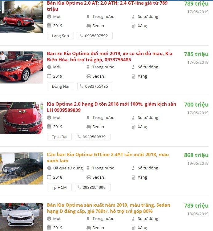 Kia Optima 2019 có khuyến mại gì trong tháng 6/2019không? a1