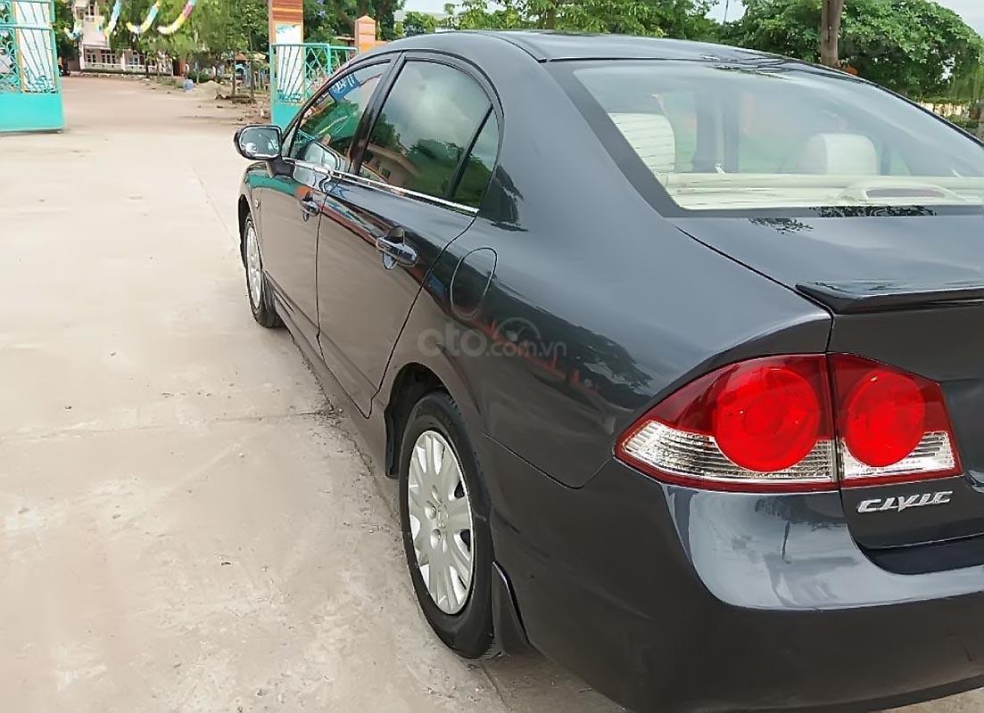 Bán Honda Civic 1.8 MT đời 2008, màu xám, giá 315tr-0