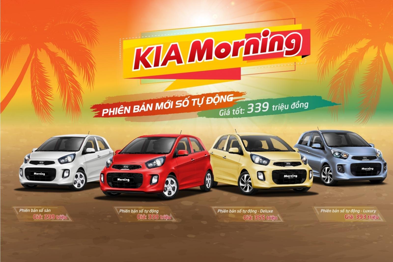 Phiên bản Kia Morning số tự động mới giá 339 triệu đồng ra mắt.