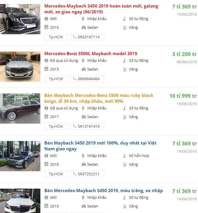Mercedes-Benz Maybach S 2019 có khuyến mại gì tháng 7/2019không? a1