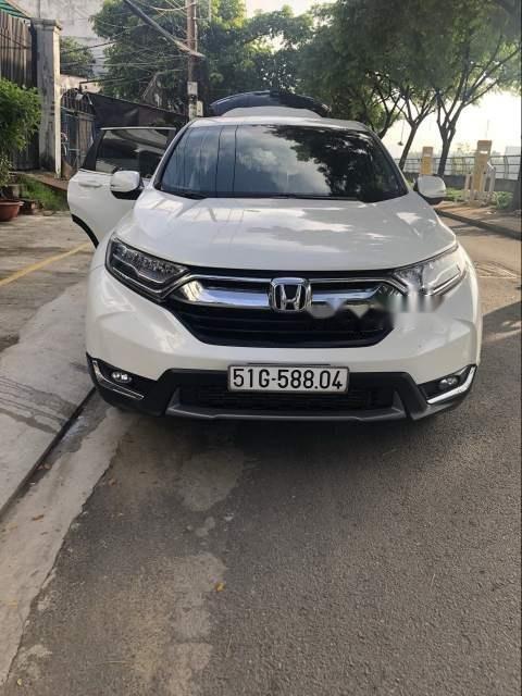 Bán Honda CR V năm sản xuất 2018, màu trắng, nhập khẩu xe gia đình-1