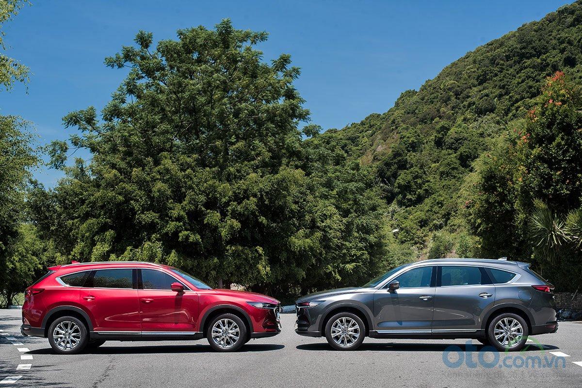 Mazda CX-8 được phát triển dựa trên nền tảng khung gầm của CX-9.