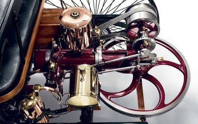 Trục lái của Benz Patent Motorwagen.