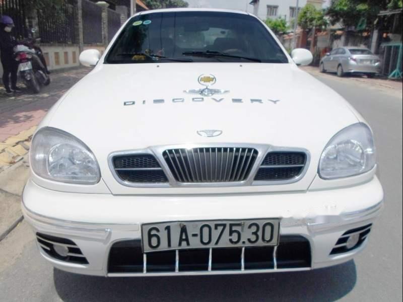 Bán Daewoo Lanos dòng cao cấp SX, tay lái trợ lực rin, kính chỉnh điện toàn bộ, sản xuất cuối 2002, màu trắng-0