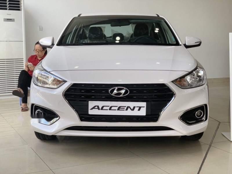 Bán Hyundai Accent 1.4MT Base đời 2019, màu trắng, nhập khẩu-0