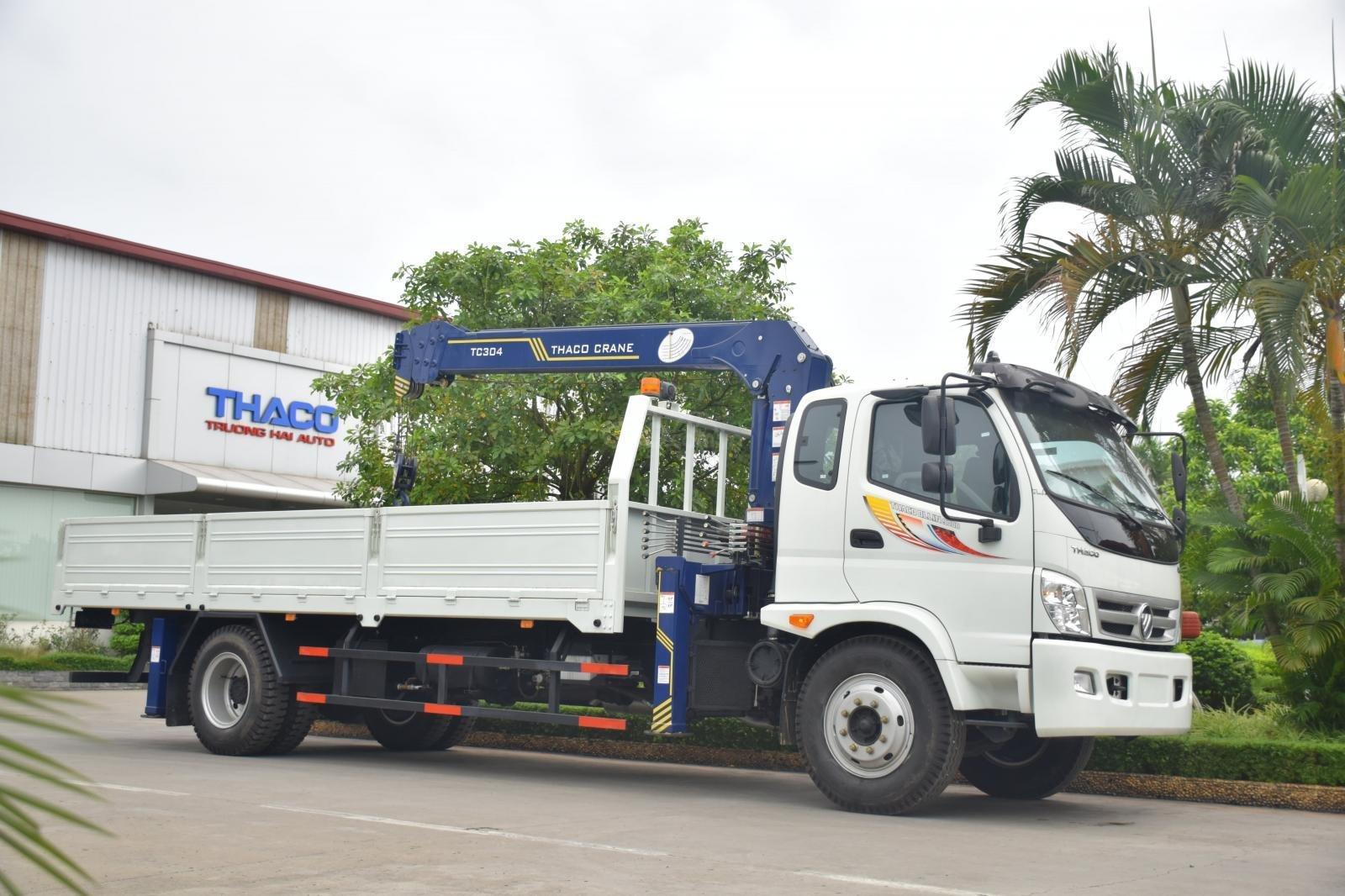 Bán Thaco OLLIN 900B tải cẩu 3 tấn, màu trắng (8)