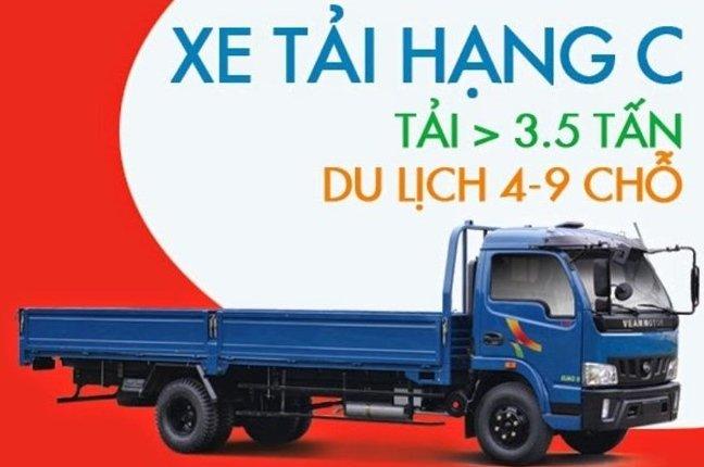 Người có bằng lái hạng C có thể lái được xe tải trên 3,5 tấn và xe ô tô có 9 chỗ ngồi.