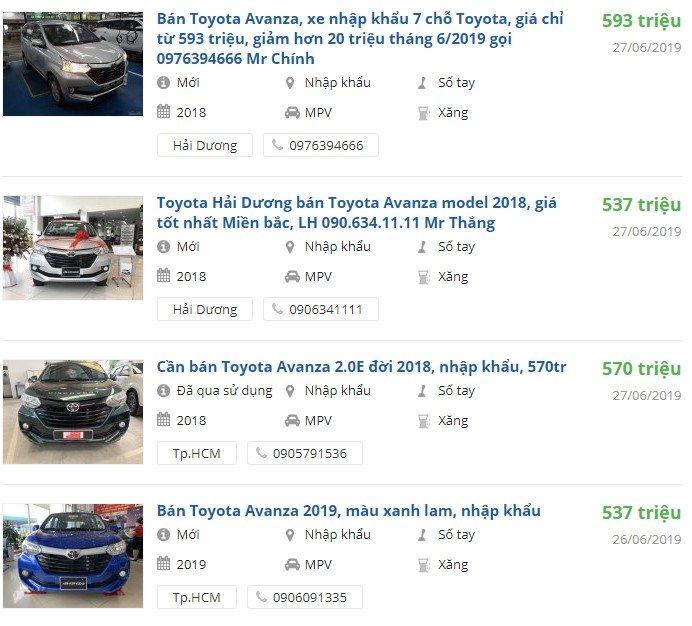 Toyota Avanza 2019 có khuyến mại gì.