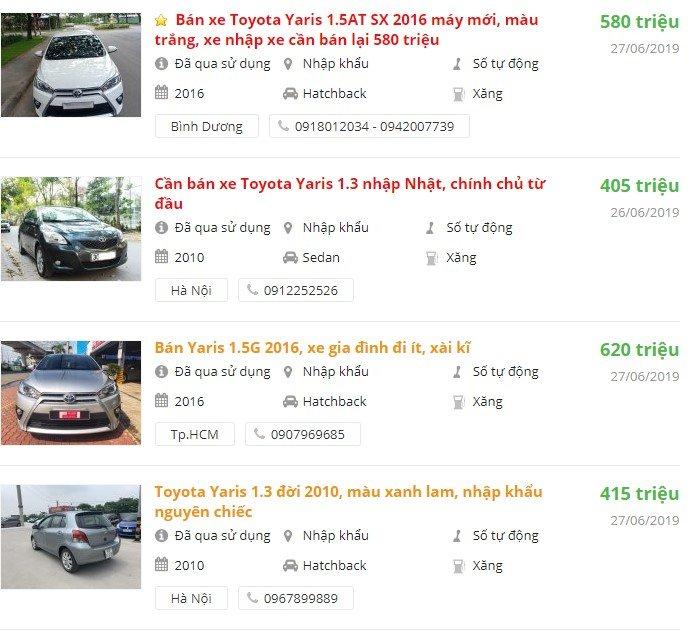 Toyota Yaris2019 có khuyến mại gì.