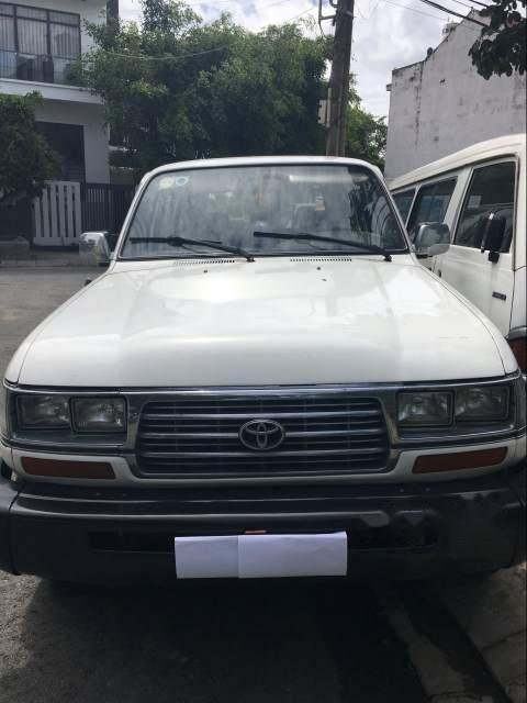 Bán Toyota Land Cruiser sản xuất 1996, màu trắng, nhập khẩu, 7 chỗ (1)