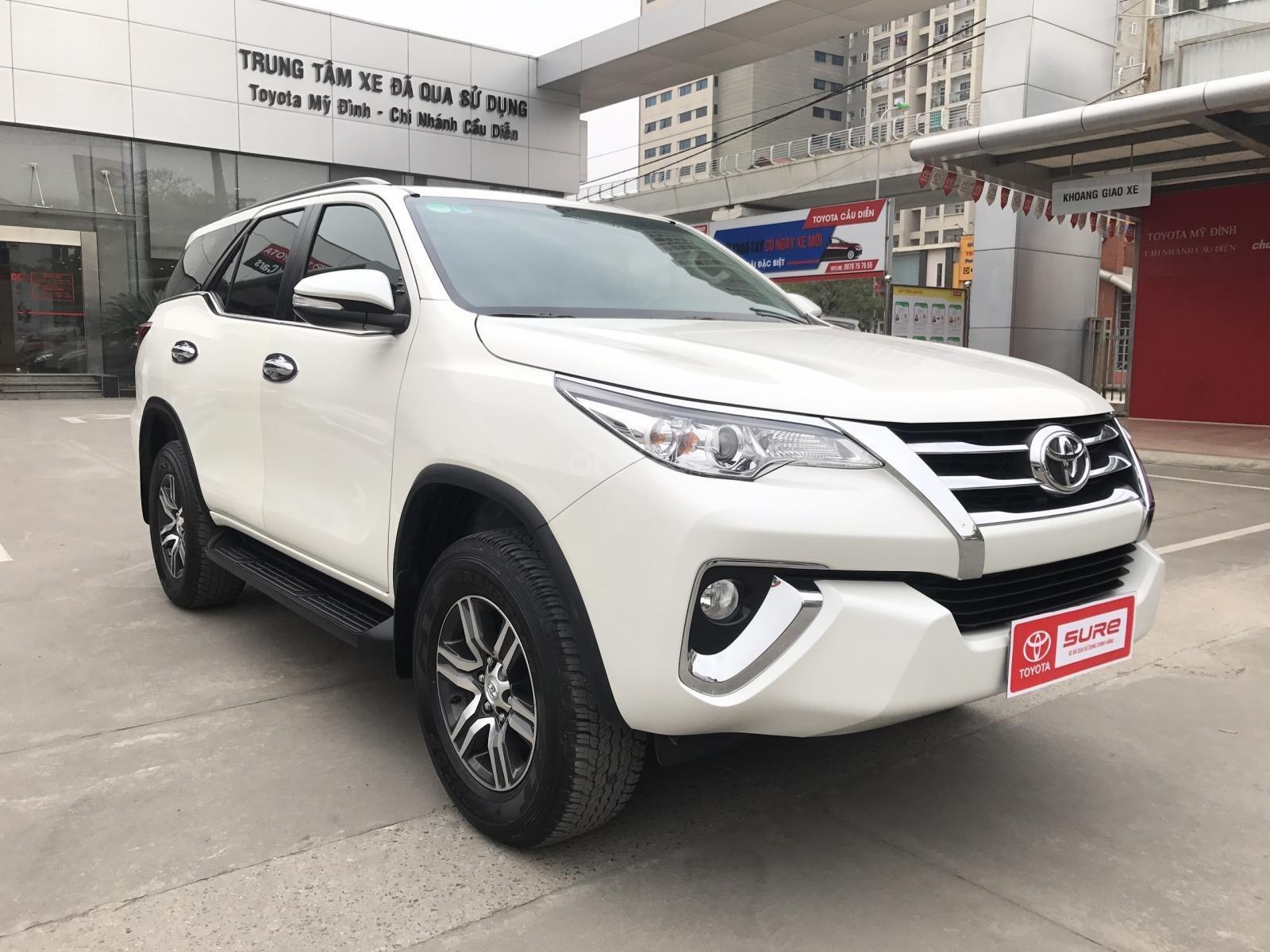 Bán Toyota Fortuner 2.7V (4x2) sản xuất năm 2017, màu trắng, xe nhập-0