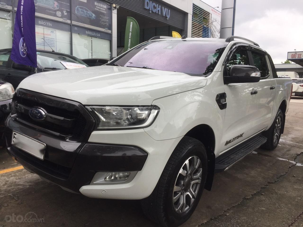 Ford Ranger Wildtrak 3.2 2015, màu trắng - Vay 70% - nhập khẩu Thái - Bảo hành 1 năm (1)