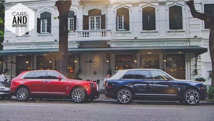 Bộ đôi Rolls-Royce Cullinan gần 100 tỷ xuất hiện trên phố thủ đô gây choáng ngợp 1a