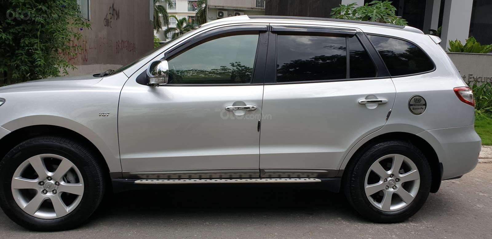 Bán Hyundai Santa Fe SLX 2.0 AT 4×2 2009, máy dầu, số tự động, màu bạc, nhập khẩu, mới 80%-2