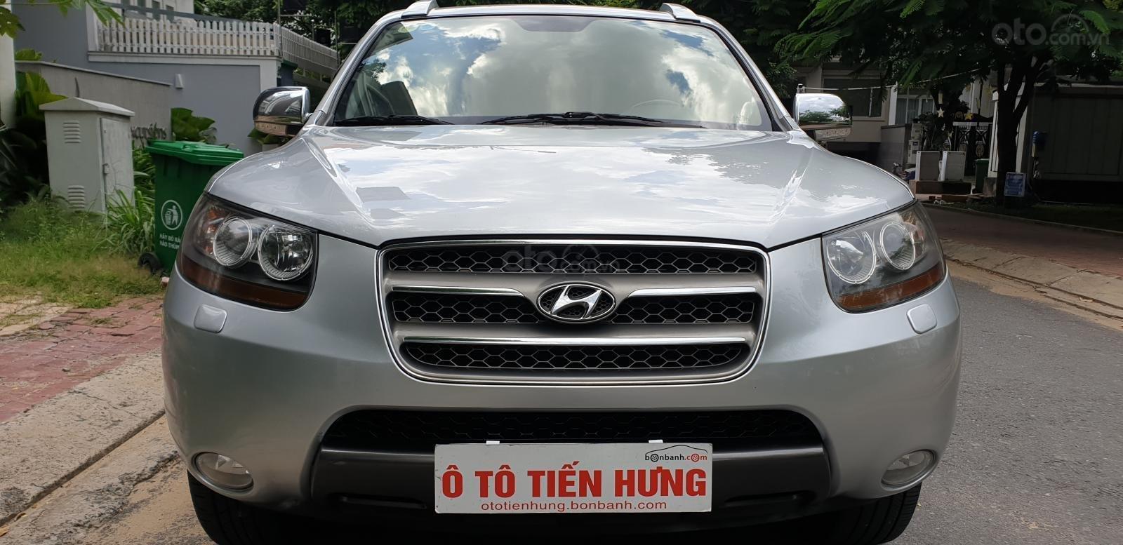 Bán Hyundai Santa Fe SLX 2.0 AT 4×2 2009, máy dầu, số tự động, màu bạc, nhập khẩu, mới 80%-6