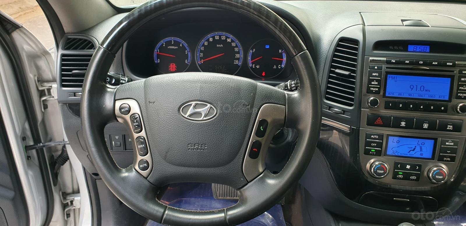 Bán Hyundai Santa Fe SLX 2.0 AT 4×2 2009, máy dầu, số tự động, màu bạc, nhập khẩu, mới 80%-13
