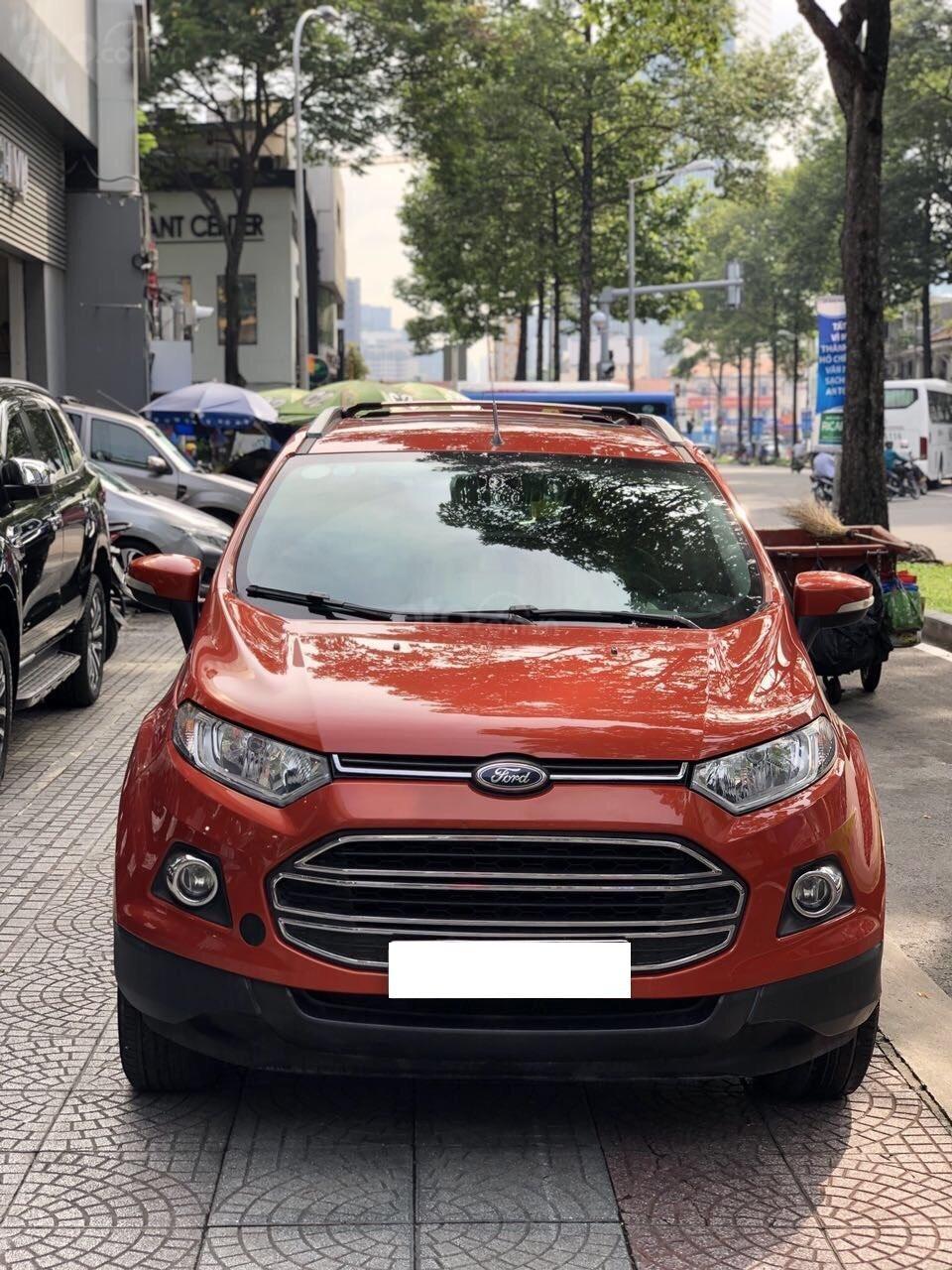 Bán Ford EcoSport Titanium sản xuất 2016, màu cam, xe chính hãng-0