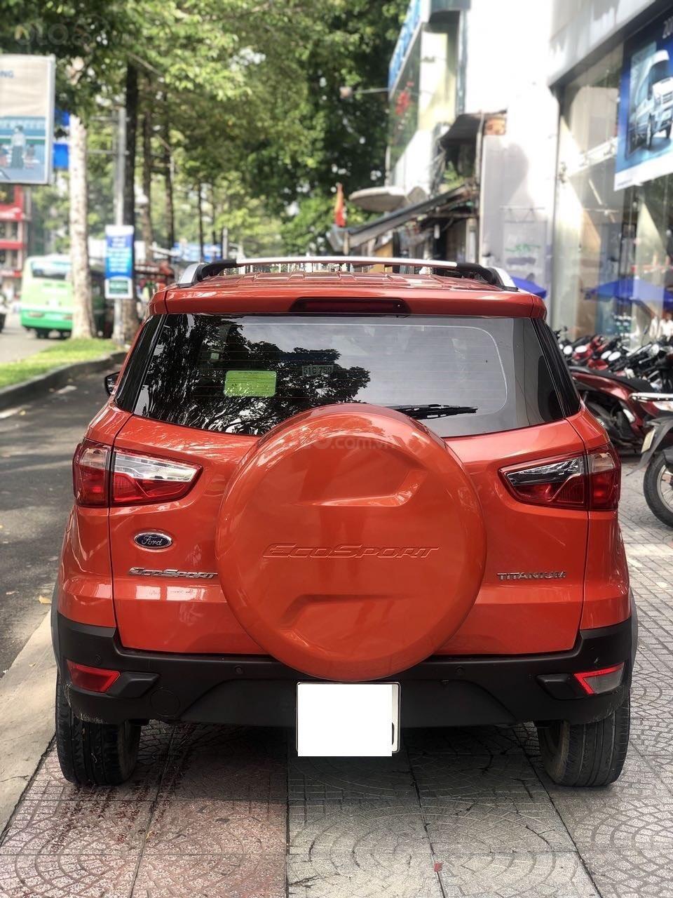 Bán Ford EcoSport Titanium sản xuất 2016, màu cam, xe chính hãng-1