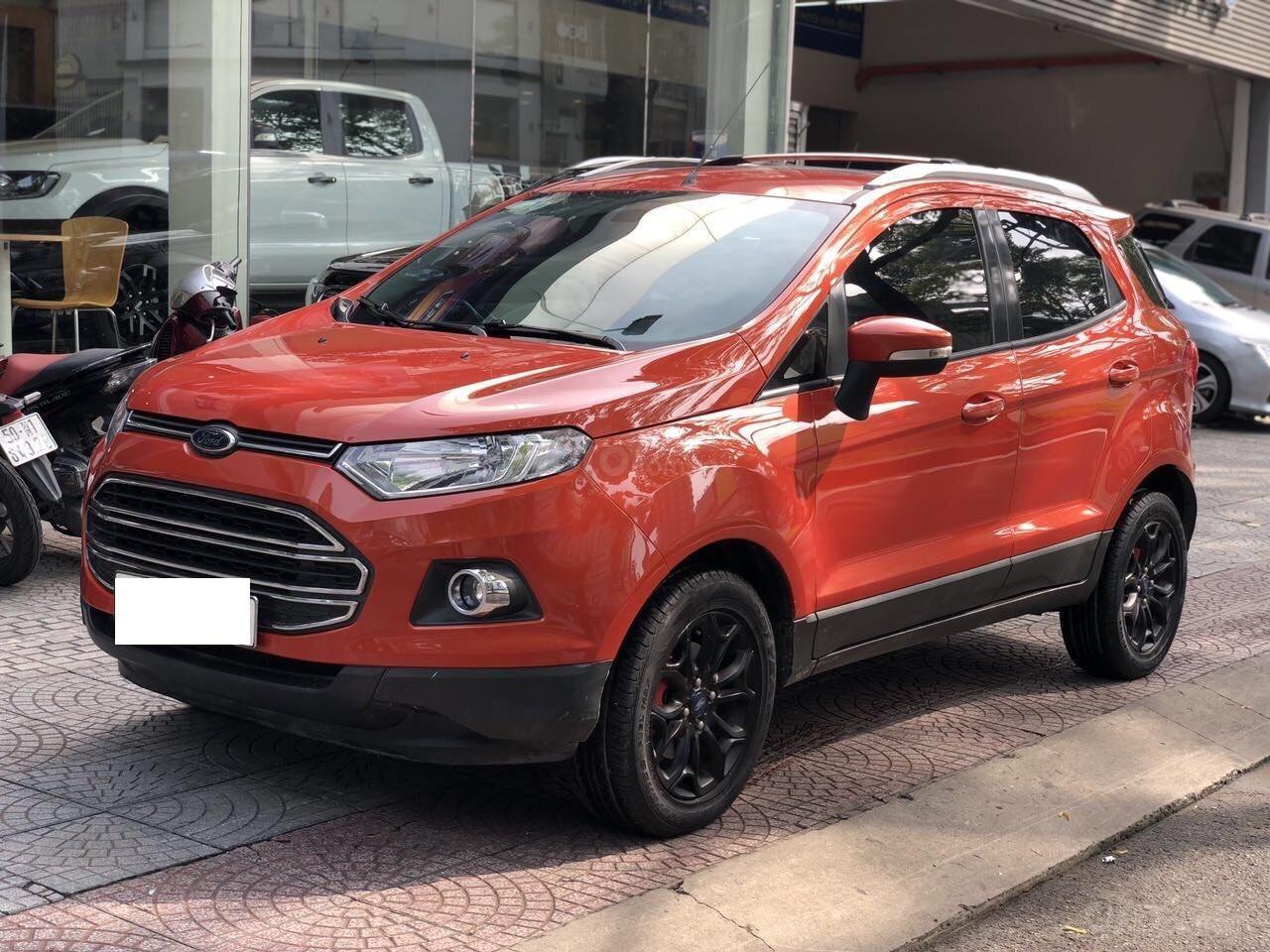 Bán Ford EcoSport Titanium sản xuất 2016, màu cam, xe chính hãng-5