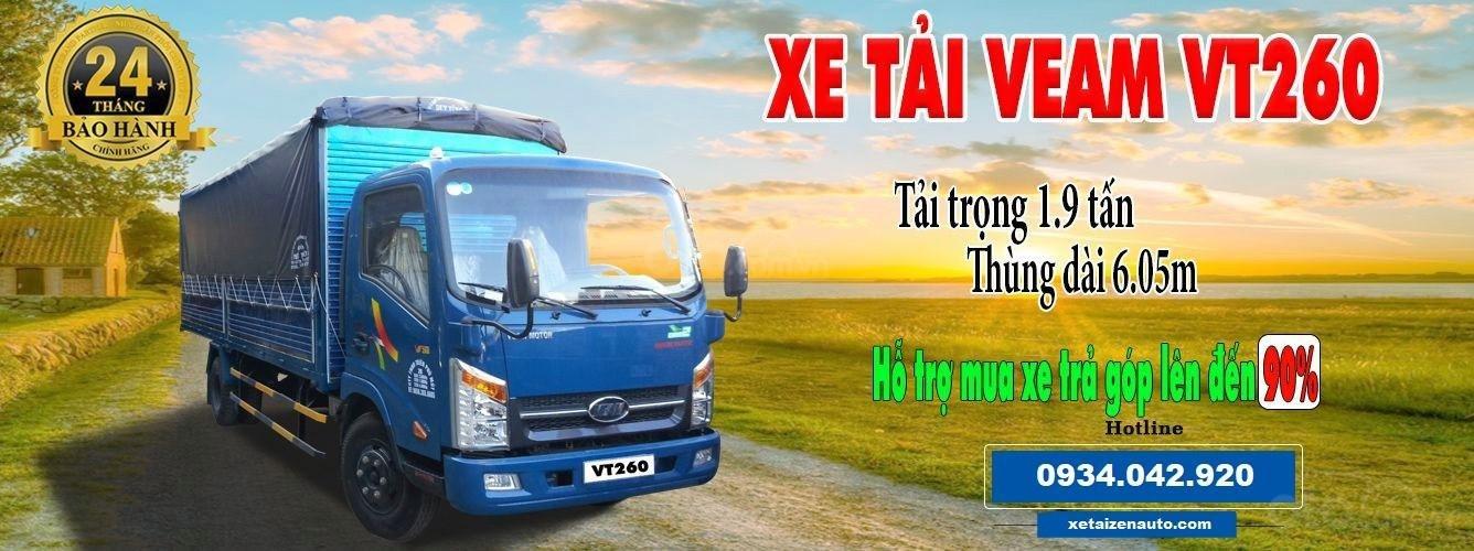 Bán Veam VT260-1 thùng dài 6M1, 1 tấn 9, động cơ Isuzu 2019 (2)